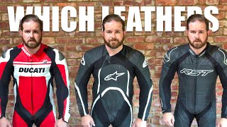 Which Leathers? RST Tractech Evo 3, Alpinestars Orbiter and Dainese C4 One Piece Suits