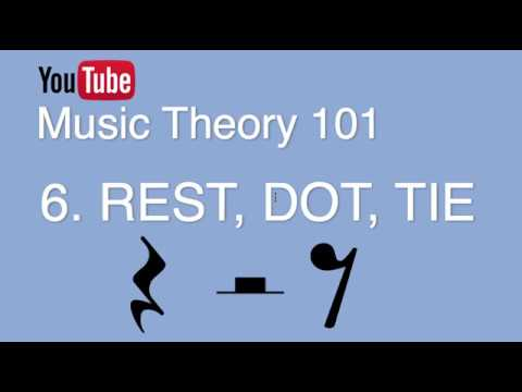 6 Rest, Augmentation Dot, Tie Music Theory 101