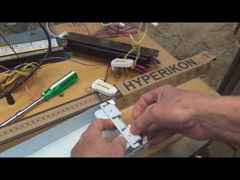 Fluorescent to LED Shop light Conversion