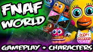 FNAF WORLD GAMEPLAY Screens & SECRET Character Selection || FNAF World Teaser All Characters