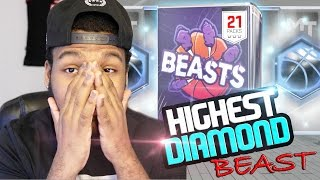 NBA 2k17 MyTeam - We Pulled The Highest Rated Diamond! Beast Pack Opening!