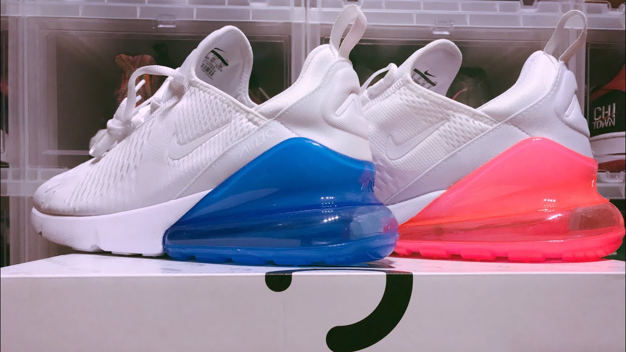 On Feet Review  Nike Air Max 270 (Hot Punch White + Photo Blue White)  Weighing + Unboxing 6e4901eec