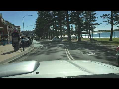 DEE WHY   Curl Curl to Dee Why Beach drive by