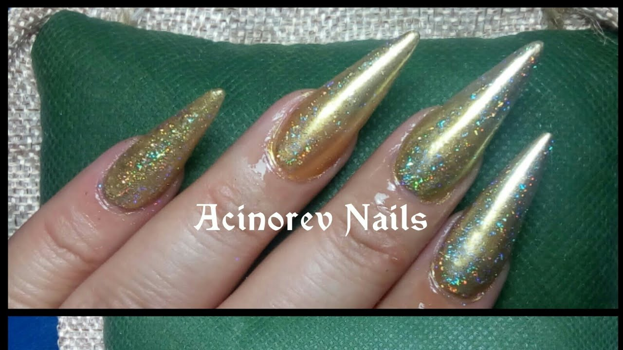 Gold Nails/ Broche de oro con colaboraciones de uñas youtube ...