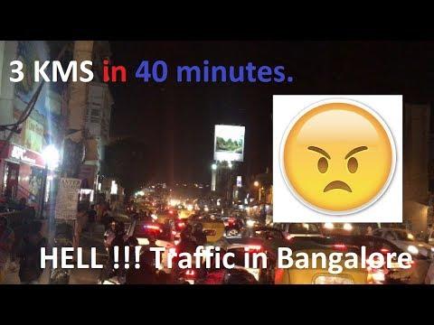 Night Traffic in Bangalore | Madiwala Traffic Jam | 3 KM in 40 Mins | 2017