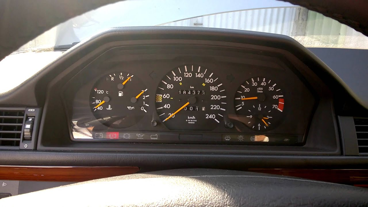 1993 W124 220E First Start After Rebuild Of Wiring Harness YouTube