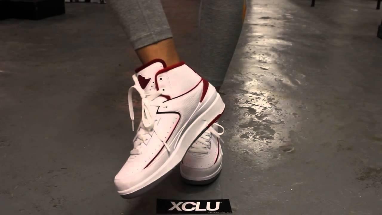 f90ab65e0851 Air Jordan 2 GS Varsity Red On Feet Video   Exclucity YouTube - YouTube