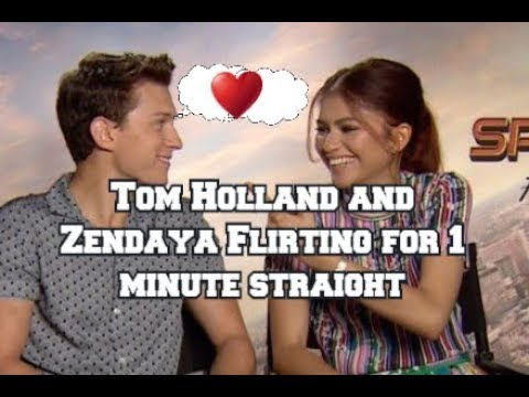 Tom Holland And Zendaya Flirting For 1 Minute Straight(They Are So In Love) #Tomdaya