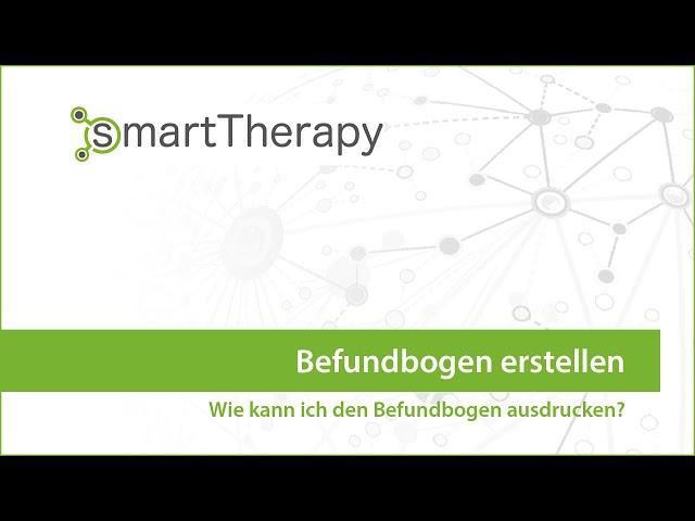smartTherapy: Befundbogen erstellen