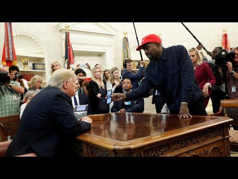 Trump meets Kanye West at the White House