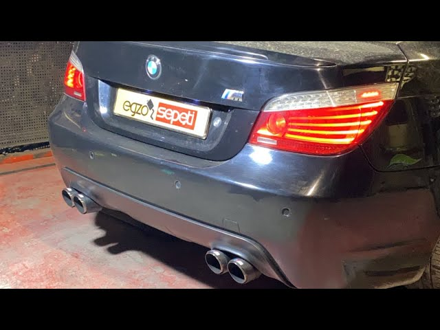 BMW E60 5.20 DİZEL KUMANDALI EGZOZ SESİ
