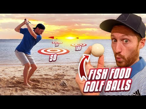 FISH FOOD Golf Balls On This BEACHFRONT DRIVING RANGE In Mauritius!