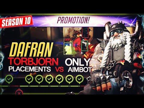 Dafran finds an AIMBOTTER | Torbjorn Only VS Placements  + FINAL SR