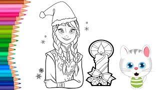 Yılbaşı Boyama Elsa Frozen Boyama Kitabı Boyama Ları Renkleri
