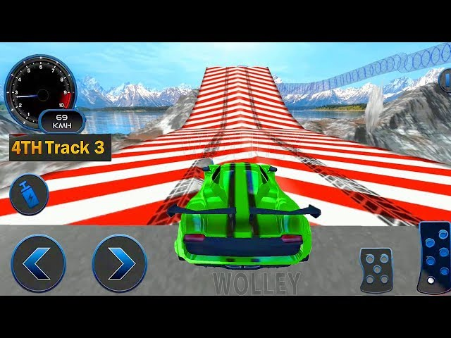 Impossible Car Crash Stunts Car Racing Game - Android Gameplay FHD -  Colorful Cars For Kids Racing