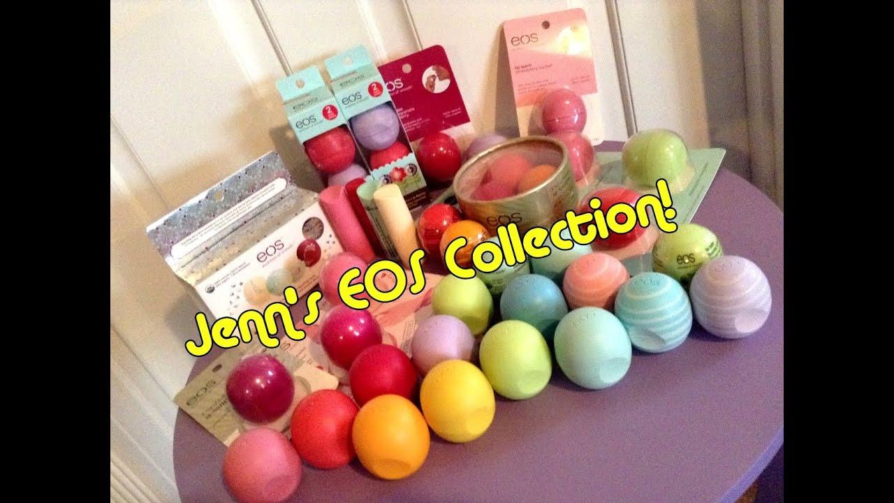 Jenn's EOS Lip Balm Collection! - YouTube