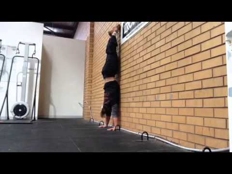 wall handstand from wall walk  youtube