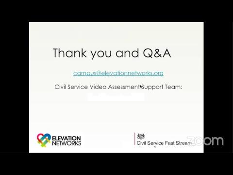 Civil Service Fast Stream Video Interview Practise Webinar
