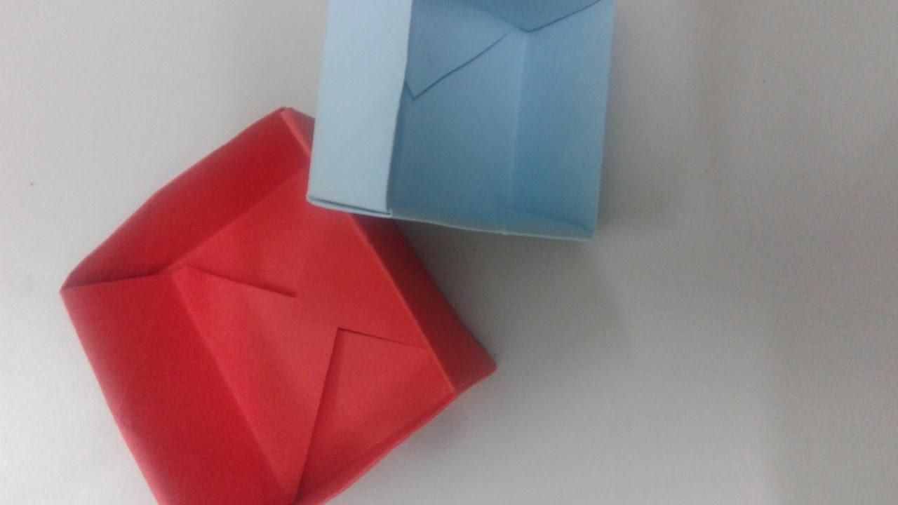 طريقة صنع صندوق من الورق اوريجامي سهل العاب Youtube