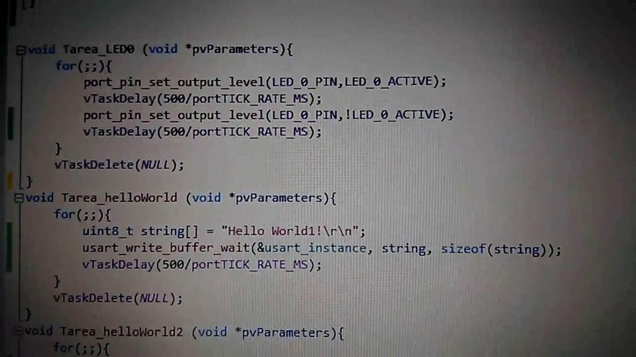 Atmel SAMD21 freeRTOS+putty serial comunication