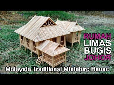 Malaysia Traditional Miniature House (JOHOR) - Rumah Limas Bugis Johor