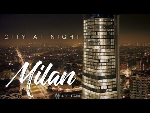City At Night - Milan, Italy | City At Night Footage | Milan Skyline