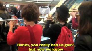 "[OFFICIAL] US Uncut ""PAY UP!"" Flashmob at Bank of America 4/15/11"