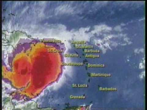 TWC Hurricane Lenny coverage 1999: Clip 2