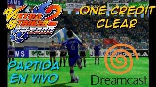 Virtua Striker 2 2000.1 (Dreamcast) - 1CC - Partida en vivo + Recopilación de golazos