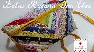 PAP – Bolsa Rosana Duo Uso (com retalhos) – Mão e transversal
