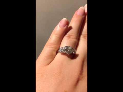 Ct Diamond Ring On Finger