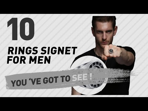 Rings Signet For Men Top 10 Collection // UK New & Popular 2017