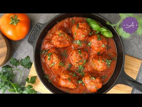 Meatball in Marinara Sauce   Homemade Food by Amanda
