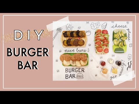 DIY Burger Bar | Summer BBQ Party Ideas