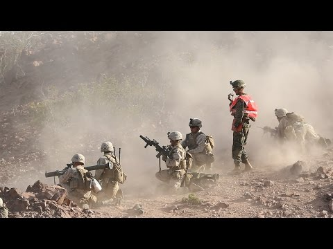 US MARINES INTENSE COMBAT ACTION ASSAULT RANGE - HEAVY TRAINING