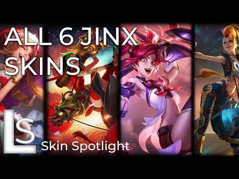 ALL JINX SKINS - Skin Spotlight - League of Legends