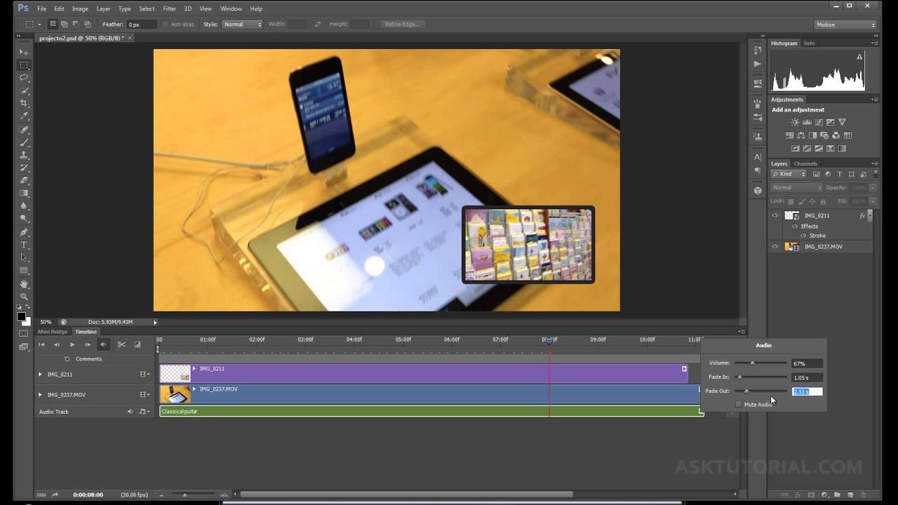 Photoshop Cs6 Para Editar Video Parte 1 Youtube
