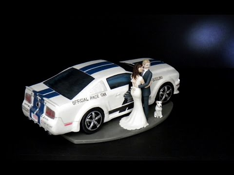 2008 GT500 Shelby Ford Mustang Cake Topper W LED Lights