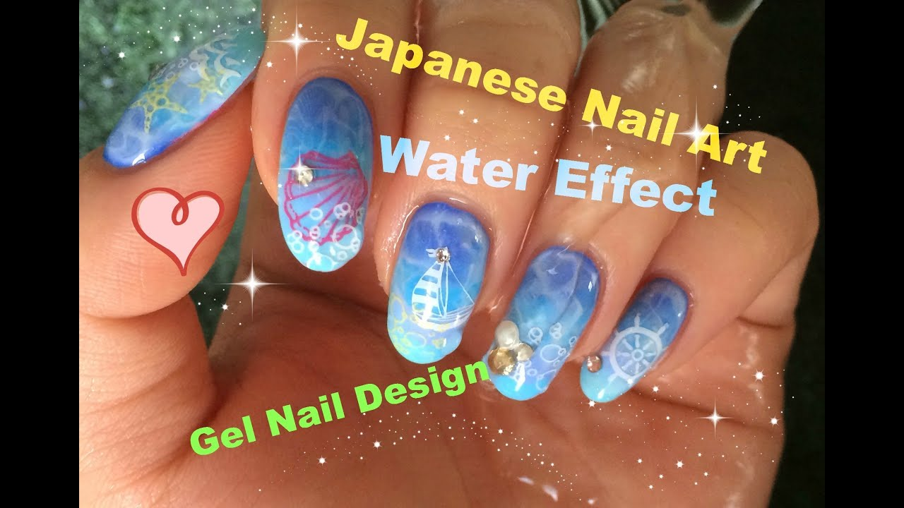 Summer Holiday Gel Polish Nail Art Tutorial 5 of 10~~Japanese Nail ...