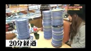 ギャル曽根がアリスターと寿司大食い対決!!!