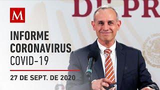 Informe diario por coronavirus en México, 27 de septiembre de 2020