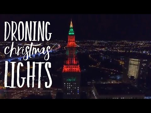 Droning Public Square Christmas Display | Cleveland Ohio