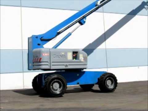 Sold! Genie S60 60' 4x4 Telescopic Boom Lift Man Aerial AC Gen bidadoo.com