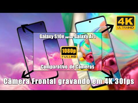 Galaxy A71 vs Galaxy S10e - Gravando em 4K com a Câmera Frontal