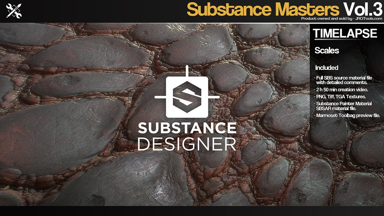 JROTools - Tools for 3D artists - Substance Masters - Vol 3