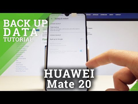 How To Back Up Data On HUAWEI Mate 20 - Enable Google Backup