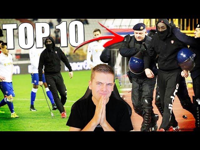 TOP 10 GESTOORDE VOETBAL HOOLIGANS!!