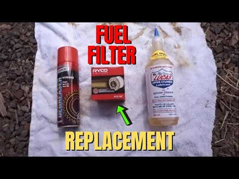 Isuzu Mu-X & D-Max Fuel Filter Replacement – DIY – How To Replace Your Fuel Filter