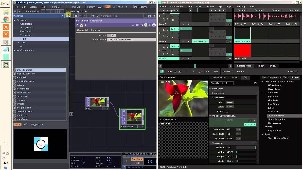 Resolume Arena 5 + TouchDesigner Shared Texture Tutorial part 1