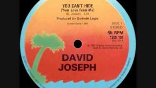 Play You Can't Hide (Your Love From Me) (By Joseph David, 12 Single Version)